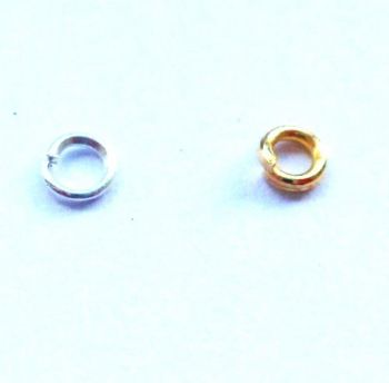 3mm jump rings x 80. Gold or silver plated